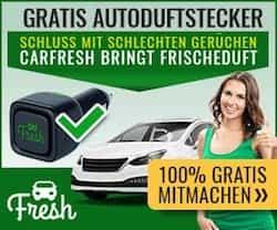 Hier den GRATIS Autoduftstecker sichern und in Ihrem Fahrzeug stets von einem angenehm frischen Duft begrüßt werden - kostenlos und unverbindlich!