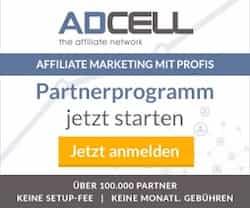 Wenn Sie als Webmaster Geld verdienen möchten, dann empfiehlt sich das Einblenden von Werbung. Bei AdCell können aus vielen tausend Werbemitteln auswählen.