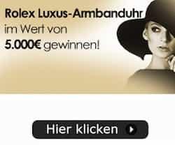 Bei diesem Gewinnspiel können Sie jetzt mit ein wenig Glück eine Luxus-Armbanduhr gewinnen im Wert von 5.000 EUR! Viel Glück!