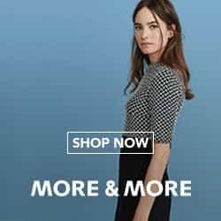 Jetzt die aktuellen More & More Gutschein Codes und Aktionen entdecken - shoppen Sie angesagte Mode mit Rabatt und zu attraktiven Preisen!