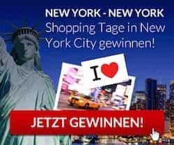 """Gewinnen Sie einen Shopping-Trip für 2 Personen nach New York! Gehen Sie dank 4 Übernachtungen auf Erkundungstour im """"Big Apple"""" - jetzt mitmachen!"""