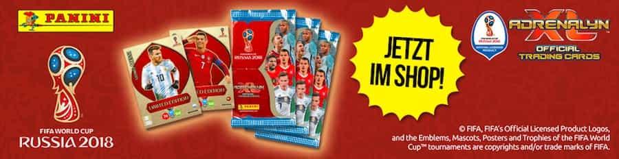 Die Sammelprodukte zur Fußball Weltmeisterschaft 2018 in Russland gehen an den Start: Am 16.02.2018 war Verkaufsbeginn der 2018 FIFA World Cup Russia™ Tradingcard Game Kollektion