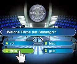 Entdecken Sie die Online Quizshow - Wer wird Millionär und gewinnen Sie hier mit etwas Glück und Wissen bis zu 1.000 EUR pro Runde!