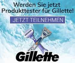 Jetzt Gillette Rasierer gratis testen! Einfach in das Formular eintragen und mit ein wenig Glück können Sie Gillette Produkte ausgiebig kostenlos testen.