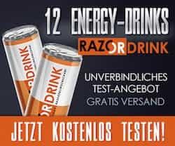 Jetzt Razor Energy Drink Produkt-Tester werden! Gesucht werden monatlich ganze 100 Tester für den köstlichen Wachmacher. Viel Glück!
