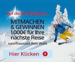 Bei diesem Gewinnspiel können Sie jetzt einen 1.000 EUR Reise-Gutschein für eine Reise zum Traumziel Ihrer Wahl abräumen! Viel Glück!