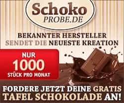 Gratisprobe Schokolade anfordern bei SchokoProbe.de: Freunde süßer Leckereien haben die Chance, pro Monat eine von 1.000 Tafeln Schokolade zu testen.