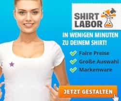 Shirtlabor druckt Ihr T-Shirt im Flexdruck, Flockdruck, Digitaldruck + Sublimationsdruck. Nutzen Sie unsere aktuellen Angebote, Rabatt und Gutschein-Codes.