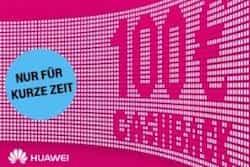 Nur für kurze Zeit erhalten Sie bei der Telekom einen Huawei Cashback in Höhe von 100 EUR, beim Abschluss eines magentaMobil Neuvertrags.