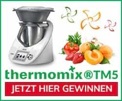 Beim großen Küchenmaschinen-Gewinnspiel können Sie eine bärenstarke Thermomix TM5 gewinnen. Eine bärenstarke Küchenhilfe, die Sie nie wieder missen wollen!