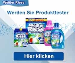"""Werden Sie jetzt Produkt-Tester für""""Weißer Riese"""" von Henkel, und sichern Sie sich eine Probe Megaperls oder Color Gel - Sie haben die Wahl!"""