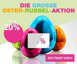 Machen Sie jetzt bei der attraktiven Oster-Rubbel-Aktion von Kaufhof mit und sparen Sie bei einem Artikel Ihrer Wahl bis zu 20 Prozent!