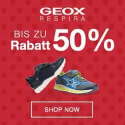 Jetzt die aktuellen GEOX Gutschein-Codes und Aktionen entdecken - hier sparen Sie beim Schuh-Kauf bares Geld. Jetzt gleich shoppen und sparen!