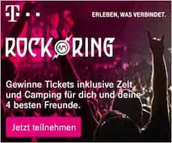 Telekom lädt die Gewinner zum grössten Musikfestival Deutschlands ein, und verlost unter allen Teilnehmern zahlreicheRock am Ring-Tickets inkl. Campingplatz und Zelt.