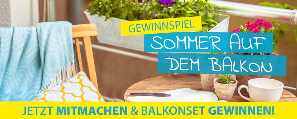 d nisches bettenlager gewinnspiel balkon sets gewinnen. Black Bedroom Furniture Sets. Home Design Ideas