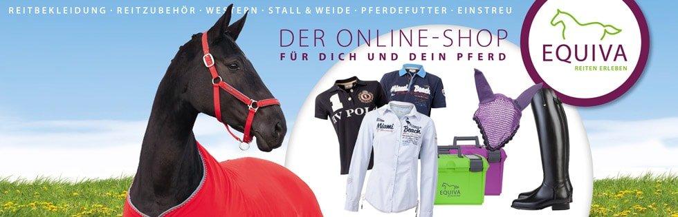 Reitsportartikel für Pferd und Reiter finden Sie bei EQUIVA. Alle aktuellen Angebote sowie Rabatt und Gutschein-Codes finden Sie HIER bei kostenlos.de!