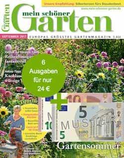 Mein Schöner Garten 24 EUR + 15 EUR-Scheck als Bonus! - Kostenlos.de