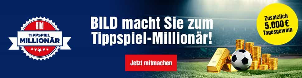 Bild macht Sie zum Millionär - Stellen Sie jetzt Ihr Fussball-Wissen beim Bild WM-Tippspiel unter Beweis, und sichern Sie sich als Gesamtsieger 1 Mio EUR!
