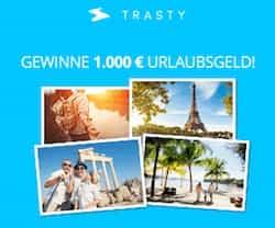 Jetzt 1.000 EUR Urlaubsgeld gewinnen! Erstellen Sie jetzt auf Trasty kostenlos Ihre eigene Reisegeschichte, und gewinnen Sie 1.000 Urlaubsgeld.