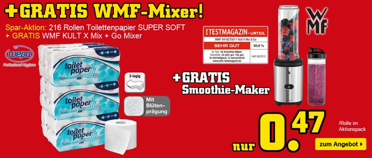 Toilettenpapier + WMF Mixer