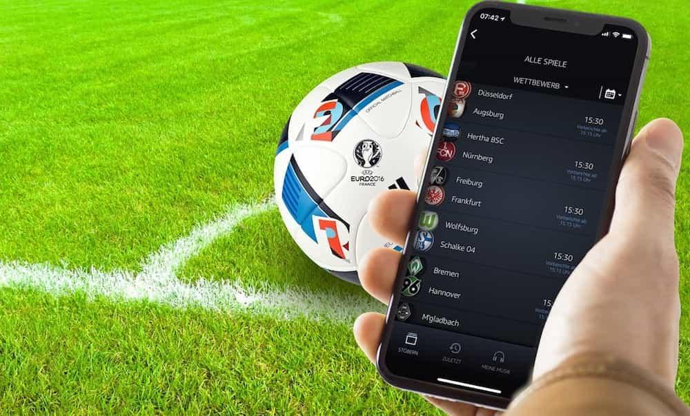Fußball Bundesliga live hören bei AMAZON Prime, und zwar alle 617 Spiele der 1. und 2. Liga ➕ Relegation ➕ Supercup. 30 Tage KOSTENLOS testen!
