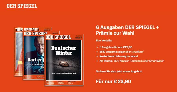 Der Spiegel Prämienabo