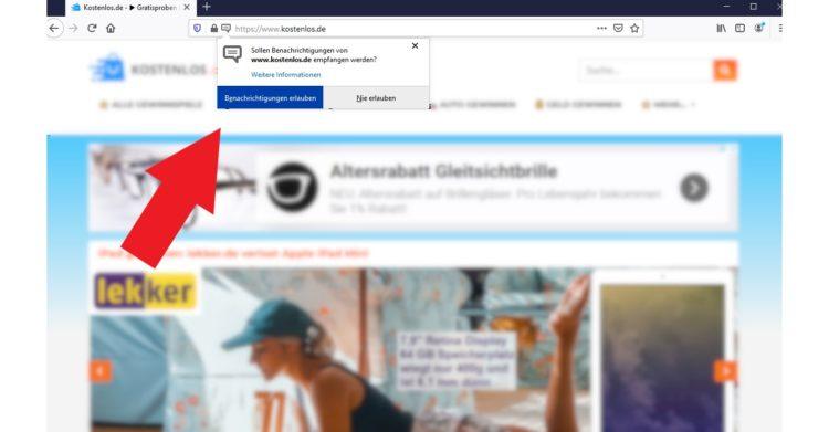 Push-Benachrichtigungen aktivieren Firefox