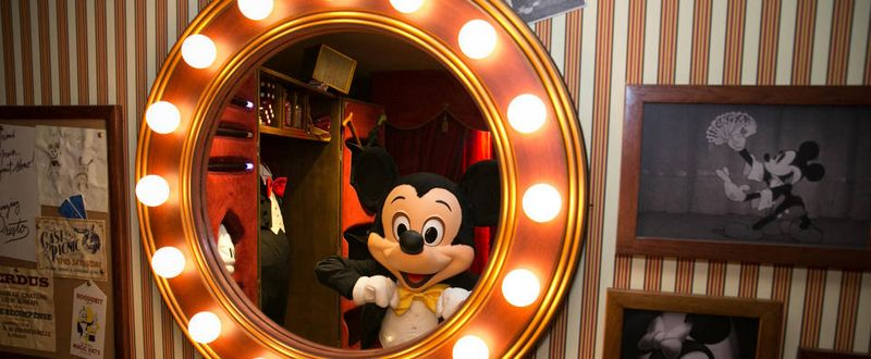 Mickey Mouse im Spiegel