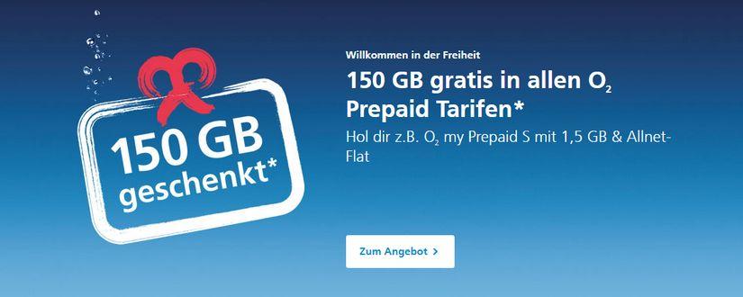O2 Prepaid Karte Aktivieren.O2 Gratis Datenvolumen 150 Gb In Allen Prepaid Tarifen