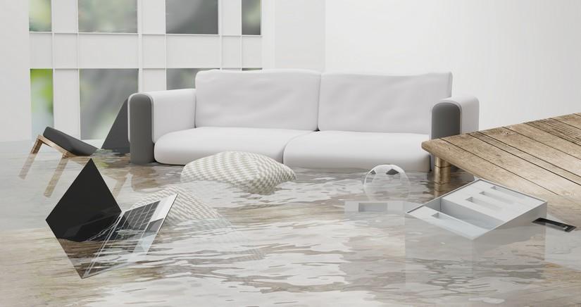 Wasserschaden im wohnzimmer