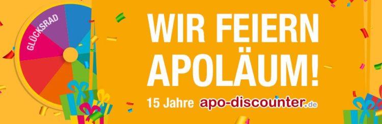 "apodiscounter Glücksrad ""Wir feiern Apoläum"""