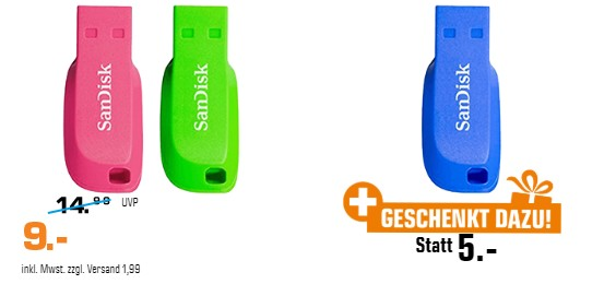 3 USB Sticks