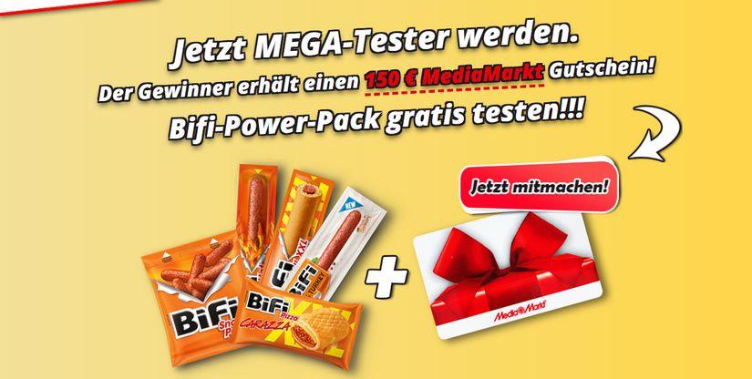 Mega-Tester werden und BiFi Power Pack gewinnen