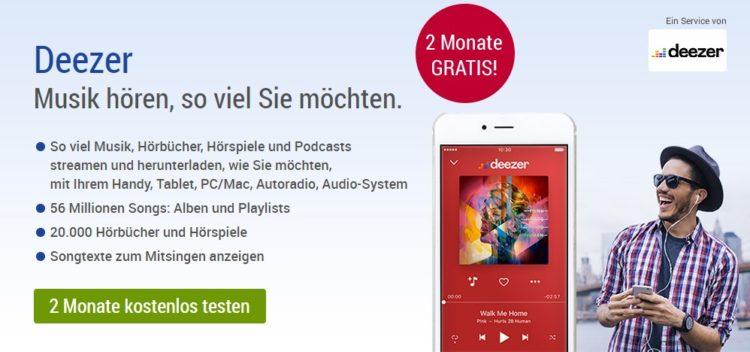 Deezer Premium 2 Monate kostenlos