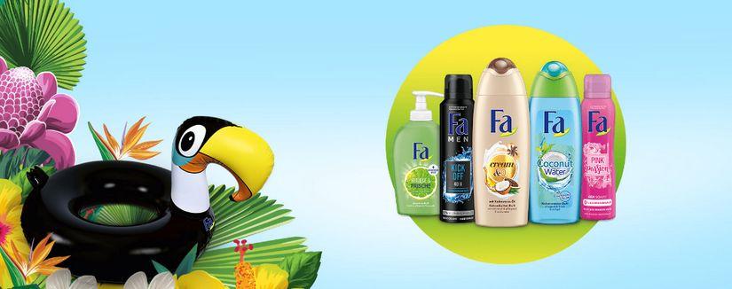 gratis Tukan-Schwimmreifen für Fa-Produkte