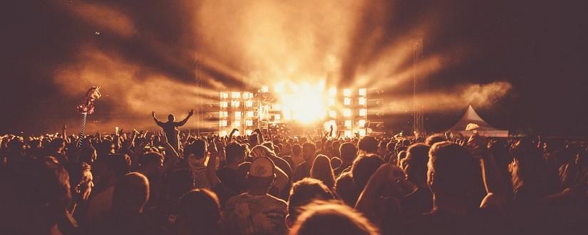 Festival Zuschauer vor Bühne