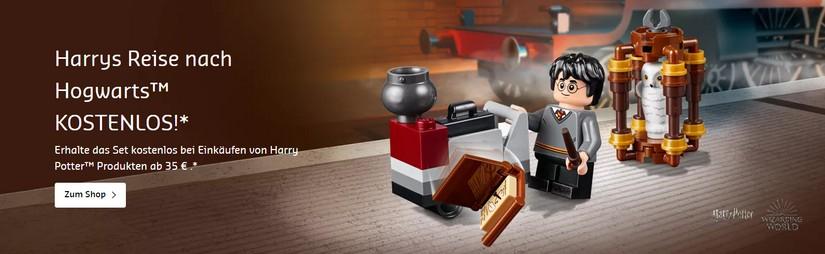 Harrys Reise nach Hogwarts kostenlos bei Lego