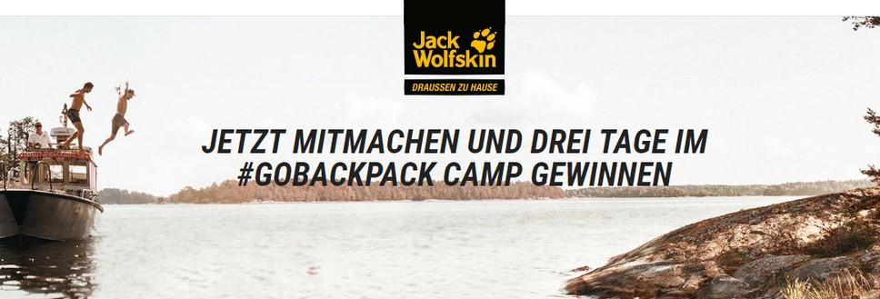 Jack Wolfskin Gewinnspiel GOBACKPACK Camp