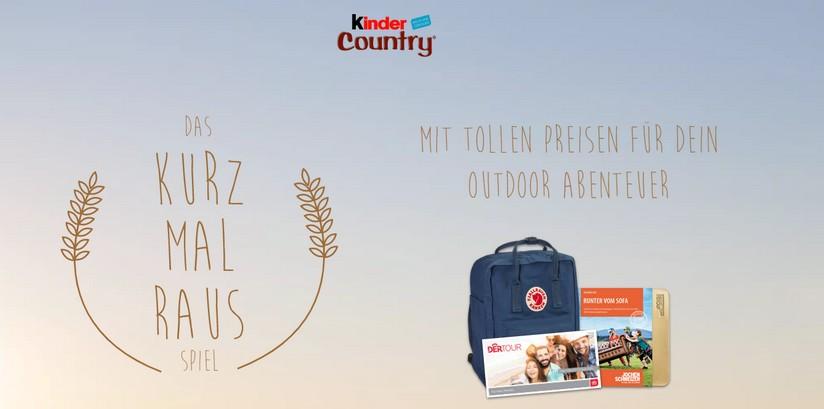 Kinder Country Outdoor Gewinnspiel