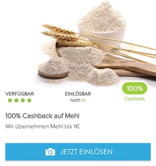 Mehl Cashback-Deal bei Marktguru