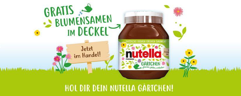 Nutella Blumen im DEckel
