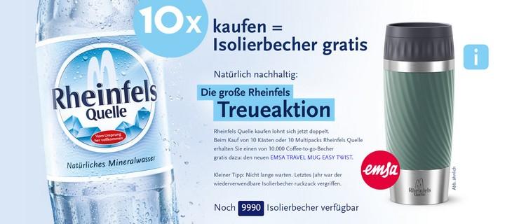 Rheinfelsquelle Treueaktion