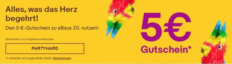 5€ Gutschein bei ebay
