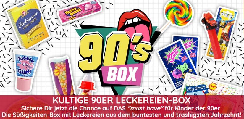 90er Süßigkeiten-Box gewinnen