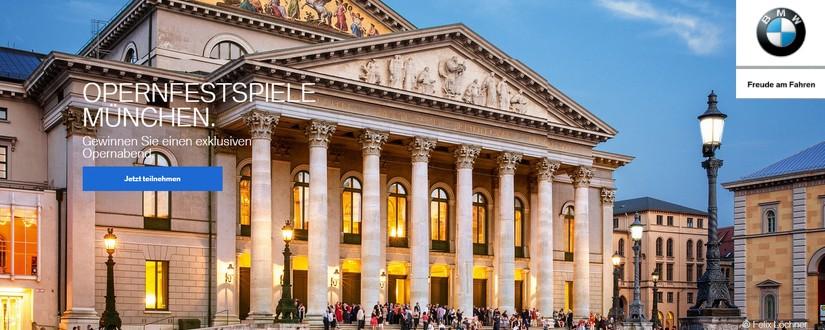 BMW Gewinnspiel: VIP-Karten für Opernfestspiele gewinnen