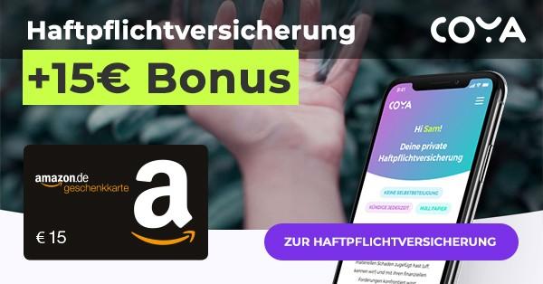 Haftpflichtversicherung Coya + Amazon.de Gutschein