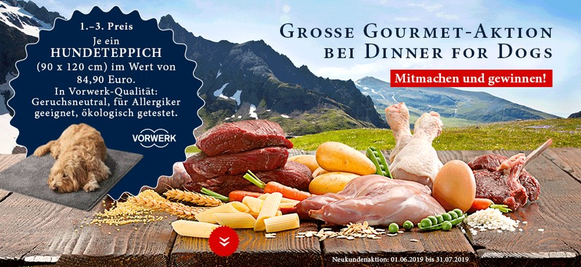 Gourmetaktion bei Dinner for Dogs