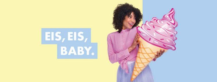 Eis.de: Frau mit Eistüte