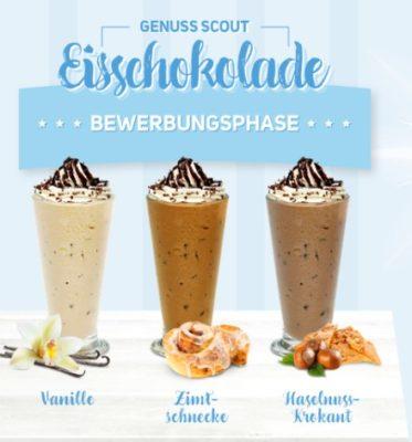 Eisschokolade von Krüger in den Sorten Vanille, Zimtschnecke & Haselnuss-Krokant