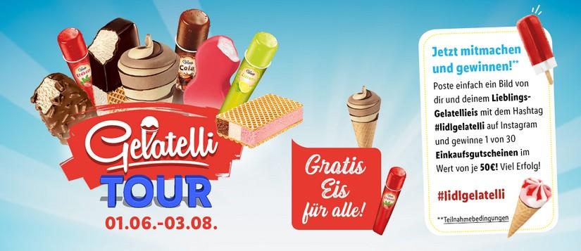 Gratis Eis für alle: Lidl Gelatelli Tour